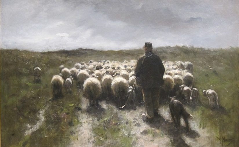 """Shepherd and Sheep"" Anton Rudolf Mauve primo do Van Gogh"